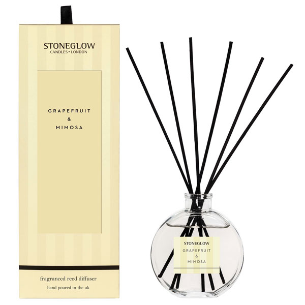 Grapefruit & Mimosa reed diffuser by Stoneglow