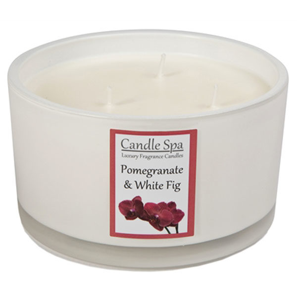 Pomegranate & White Fig Luxury Soy Candle