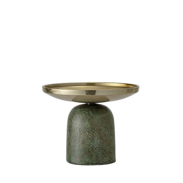 green and gold candle holder