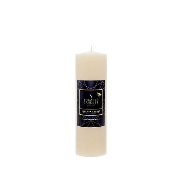 medium beeswax candle